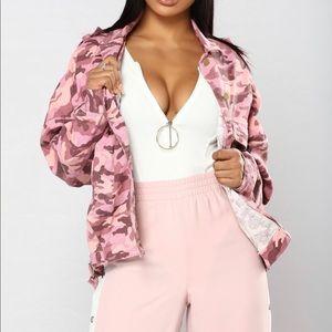 Get A Clue Camo Jacket - Pink Camo